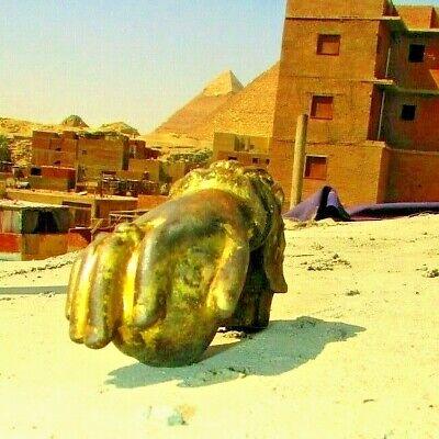 Vintage Egyptian cast Iron Hand Door Knocker Bell Rare hand Iron, 19th. #3 6