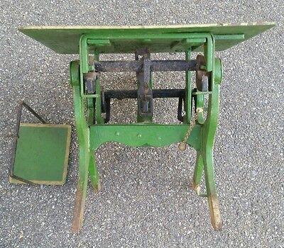 Alte Dezimalwaage/Krämerwaage  Fabrikat um 1910 Farbe  Grün 6