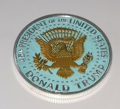 Donald Trump Silver & Gold Dollar City Coin President of the United States Man 8