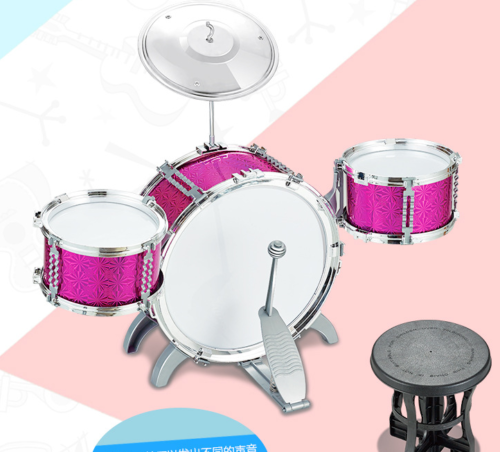Blue / Red Junior Drum Kit For Kids - 3/5/6 Drum Set with Stool Childrens choose 7