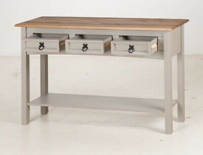 Corona Console Table 3 Drawer Grey Wax by Mercers Furniture® 6
