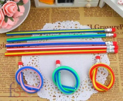 30 x Soft Flexible Bendy Pencils Bending Pencil Kids Children School Fun Pencils 5