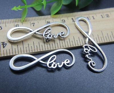 Zinc Alloy Love Bracelet Connector Charms Pendant Jewelry Making DIY