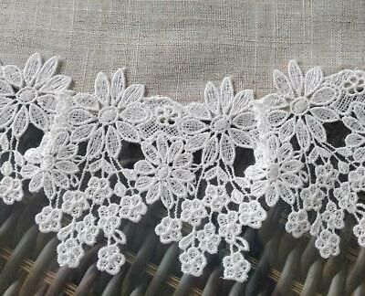 Doily 16 inch Flower Lace  Neutral Burlap Natural Floral Daisy 3
