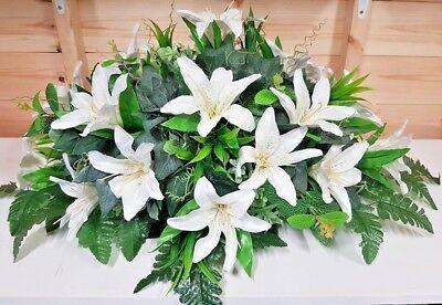 Silk Artificial Funeral Flowers Wreath/Memorial/Grave Tribute Wreaths 12