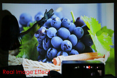 HD Portable Android Mini Wifi Bluetooth Projector LED Home Cinema Kodi HDMI USB 6