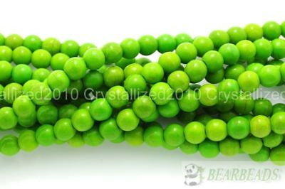 "Howlite Turquoise Gemstone Round Loose Beads 2mm 3mm 4mm 6mm 8mm 10mm 12mm 16"" 9"