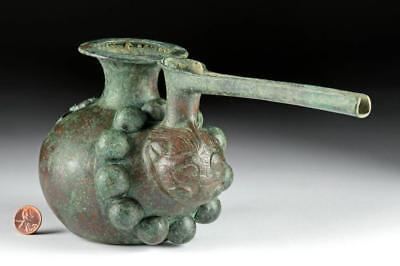 Seljuk Bronze Spouted Pouring Vessel - Felines Lot 69B