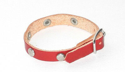 Original Steiff Zubehör Leder Halsband rot ca. 15cm lang