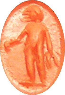 2nd century A.D. Ancient Roman Nicolo Gemstone Intaglio of a Standing Figure 7