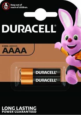 2 X Duracell AAAA 1.5 V Ultra Piles Acalines MN2500 MX2500 E96 LR61 8