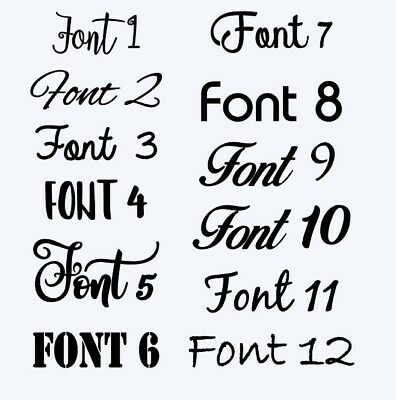 Customised Box Frame Sticker Decal 60 FONTS Quote 3 Sizes DIY  design your own 2