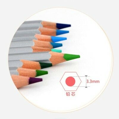 24/36/48/72Pcs Soft Core Art Colored Pencils Wooden Wax Based Drawing Supply 2B 10