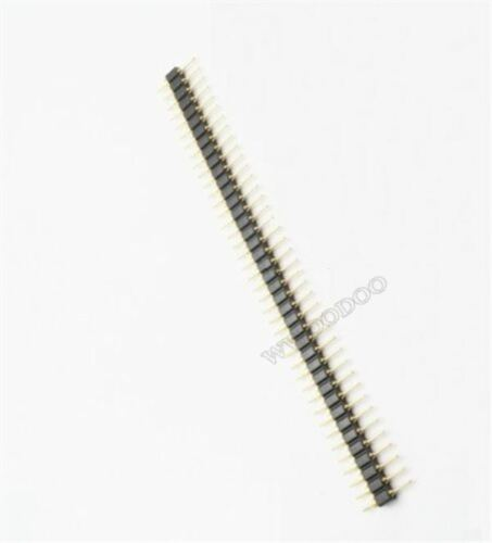 50Pcs Pin Header Single Row 40Pin 2.54MM Round Male Gold Plated Machined py 2