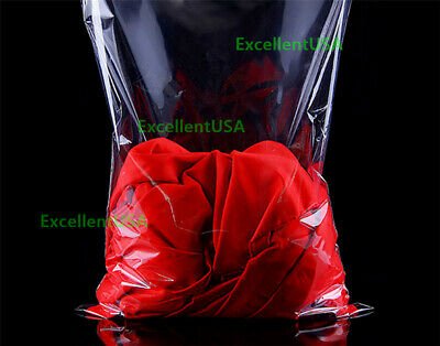 Clear 12x15 T Shirt Plastic Bags 5/100/1000/5K Reclosable Resealable Cello Poly 3