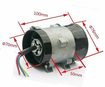12v Car Electric Turbo Supercharger Kit Air Intake Fan Boost Thick Wire W Esc 7