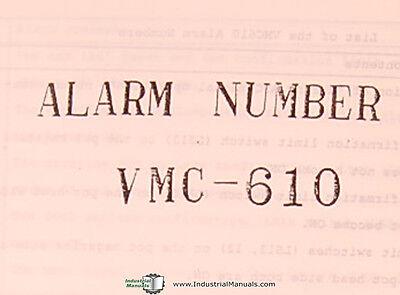 Fanuc System 6M Model B Parts List Manual VMC 610 Enshu Machining Center