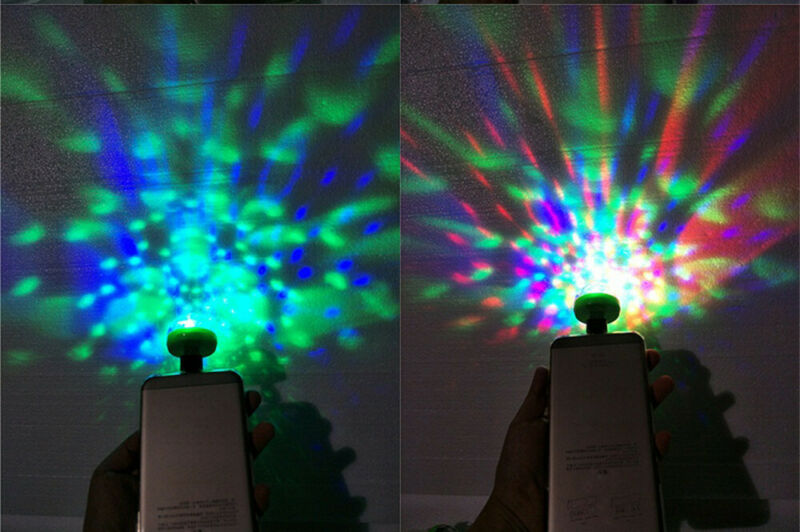 3USB Mini LED RGB Disco Stage Light Party Club DJ KTV Xmas Magic Phone Ball Lamp 11