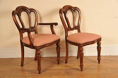 6 Victorian Dining Chairs Admiralty Mahogany 6