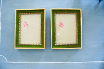 One French wood vintage Louis XVI style frame picture painting photo 5