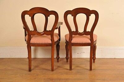 6 Victorian Dining Chairs Admiralty Mahogany 8