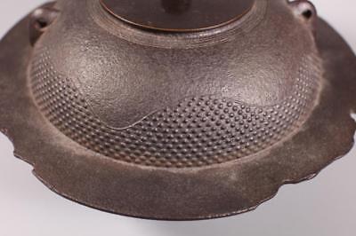 Lg Japanese Cast Iron Wide-Skirt Tetsubin Kettle Lot 143