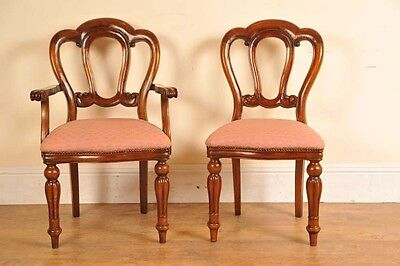 6 Victorian Dining Chairs Admiralty Mahogany 4