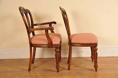 6 Victorian Dining Chairs Admiralty Mahogany 9