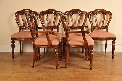 6 Victorian Dining Chairs Admiralty Mahogany 2