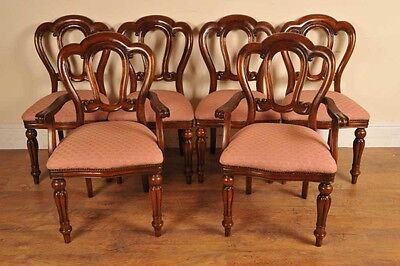 6 Victorian Dining Chairs Admiralty Mahogany 5