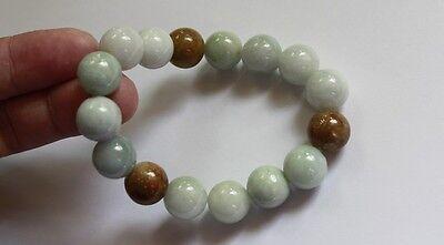 Gemstone 100% Natural JADE (Grade A) Untreated Jadeite Beaded Bracelet 13mm 2