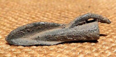 Scythian- Sarmatia Bronze 2 pcs.Old Original Ancient Barbed Arrowhea 7-4 BC #2 8