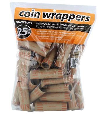 100 PREFORMED QUARTERS WRAPPERS ROLLS - Quarters Tubes 2
