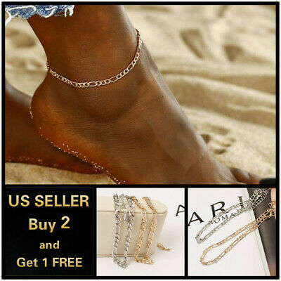17+ Styles Gold Anklet Ankle Bracelet Foot Chain Heart Beads Pineapple Rope 8