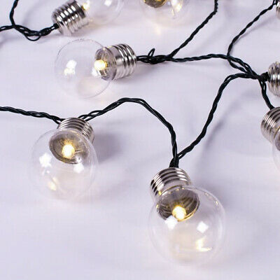 Outdoor String Lights 30 Solar Power Retro Bulbs LED Garden Party 6.35m Solaray™ 7