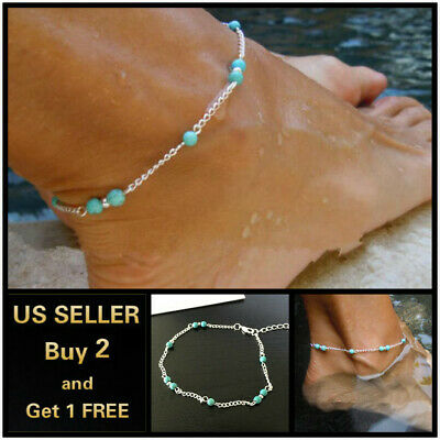 17+ Styles Gold Anklet Ankle Bracelet Foot Chain Heart Beads Pineapple Rope 3