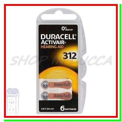 60 DURACELL 312 PR41 Batterie ACTIVAIR Protesi Pile per Apparecchi Acustici 2