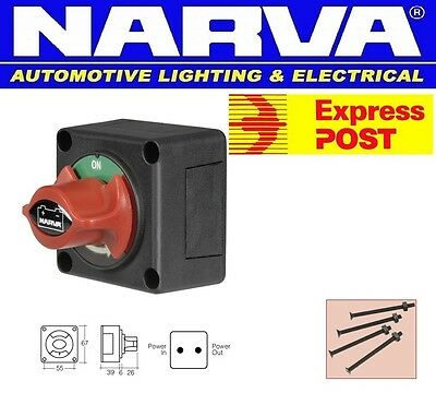 Narva Boat Marine Master Battery Isolator Cut Off Kill Switch 12 24 Volt 61082Bl