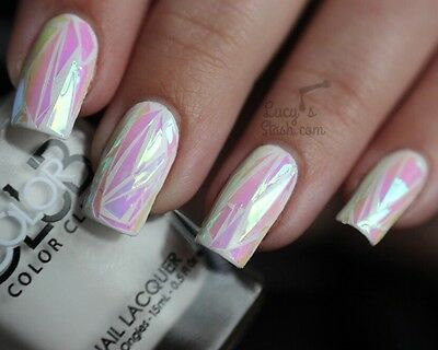 Angel Foil Wrap Broken Glass Nail Effect Art Transfer Glitter