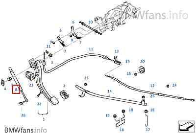 750iL Damper for Parking Brake Pedal 35511165574 740i New BMW E38 735i