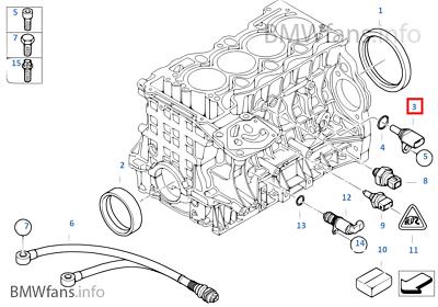USED E BMW N40 N42 N45 N45N N46 Crank Crankshaft Position Sensor 13627548994