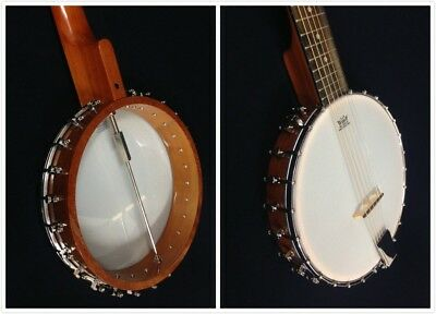 Caraya BJ-006-OB Open Back 6-String Guitar Banjo + Gig Bag 2
