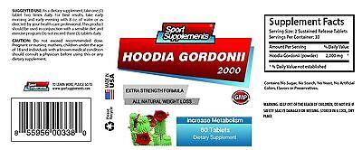 Hoodia Gordonii Cactus 2000mg Natural Weight Loss Pills 3b Slimming Capsule Detox & Cleansers