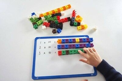 100 x 2cm Snap Cubes & Board - Counting Linking Building Maths Early Learning 12