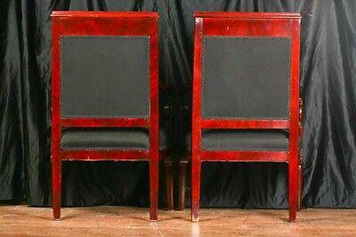 Pair Mahogany French Arm Chairs Charles X Throne 2