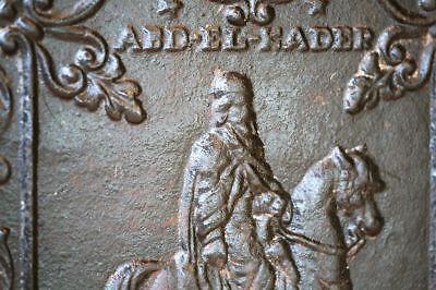 Antigua Placa de CHIMENEA, ABD-EL-KADER (Fireplace Ornament). Más de medio SIGLO 2