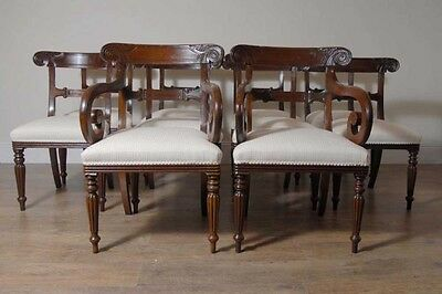 10 English William IV Dining Chairs Regency Chair 7