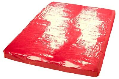 Lack Laken Bettlaken Vinyl Laken Massage Auflage Gummifeeling Rot 200 x 230cm 7