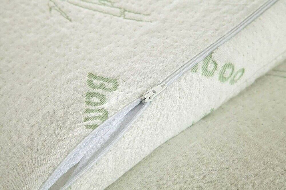 Ultra Soft Bamboo Memory Foam Mattress Topper Enhancer With Removable Zip Cover 3