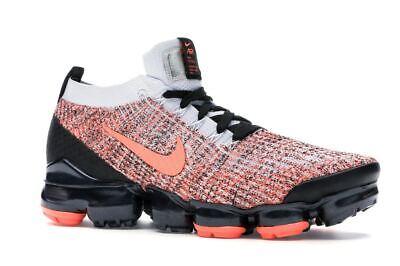 Nike Air Vapormax Flyknit 3 Black Mango AJ6900-800 Running Shoes Men's Size 2